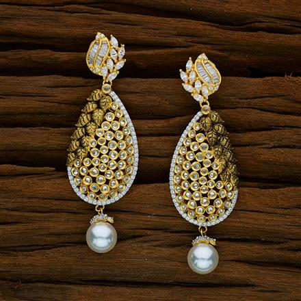 52588 CZ Classic Earring with 2 tone plating