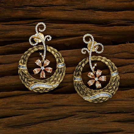52589 CZ Classic Earring with gold plating