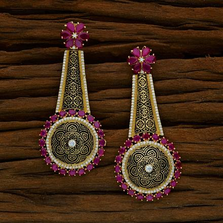 52590 CZ Classic Earring with gold plating