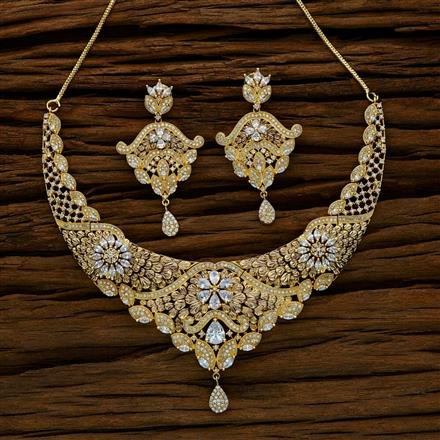 52620 CZ Classic Necklace with gold plating