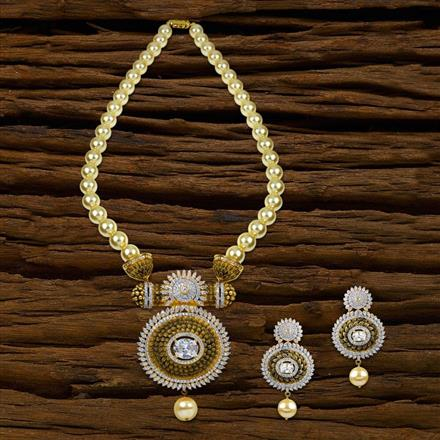 52625 CZ Mala Necklace with 2 tone plating