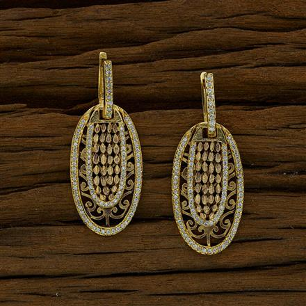 52657 CZ Short Earring with gold plating