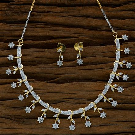 52689 CZ Classic Necklace with 2 tone plating