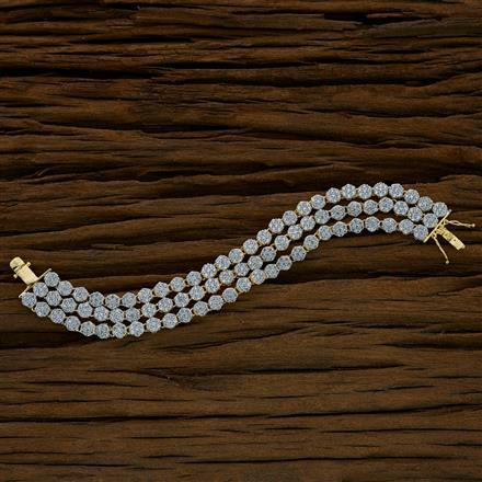52703 CZ Classic Bracelet with 2 tone plating