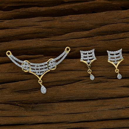 52709 CZ Classic Mangalsutra with 2 tone plating