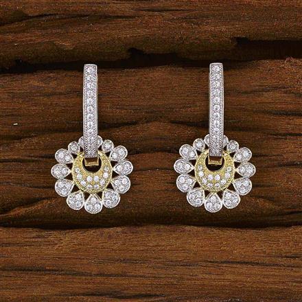 52743 American Diamond Bali with 2 tone plating