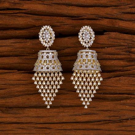 52750 CZ Classic Earring with 2 tone plating
