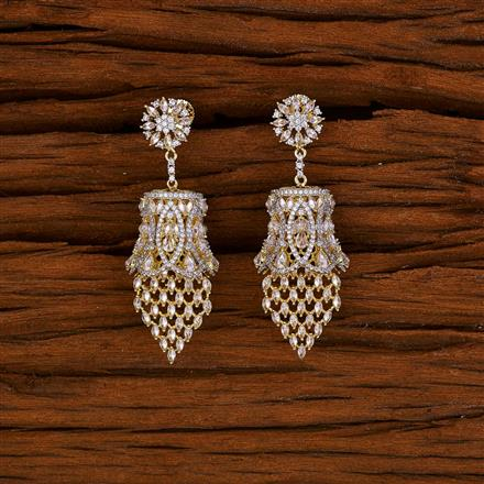 52751 CZ Classic Earring with 2 tone plating