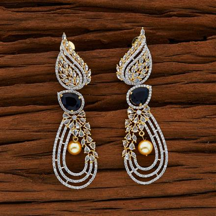 52755 CZ Classic Earring with 2 tone plating