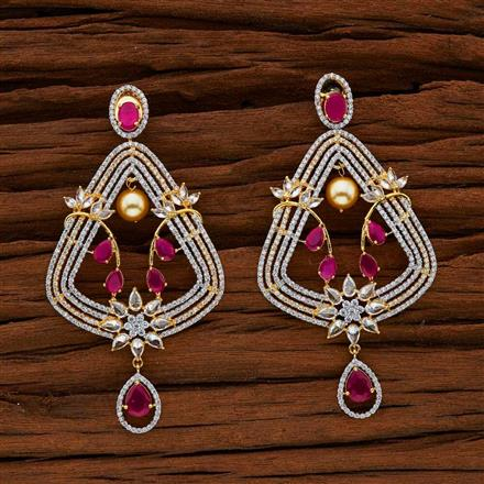 52760 CZ Classic Earring with 2 tone plating