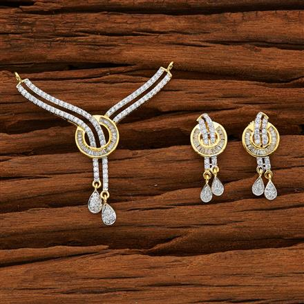 52774 CZ Classic Mangalsutra with 2 tone plating