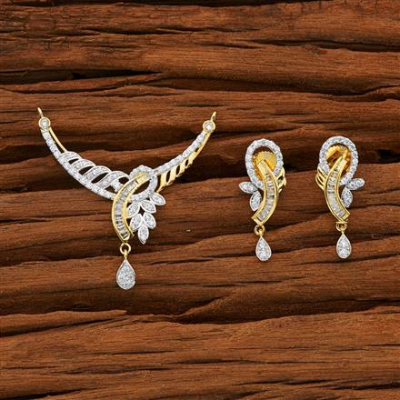 52775 CZ Classic Mangalsutra with 2 tone plating