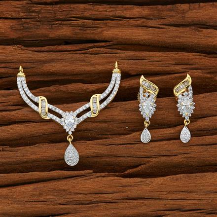 52776 CZ Classic Mangalsutra with 2 tone plating