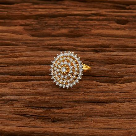 52790 CZ Delicate Ring with 2 tone plating