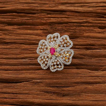 52793 CZ Classic Ring with 2 tone plating