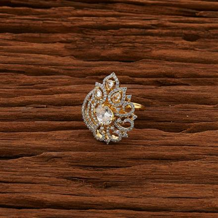 52796 CZ Classic Ring with 2 tone plating