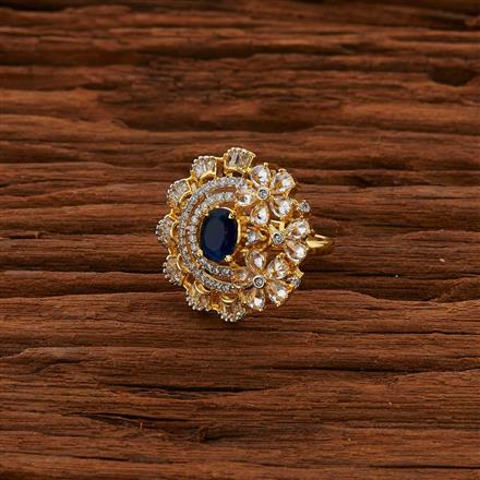 52797 CZ Classic Ring with 2 tone plating