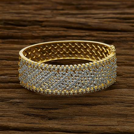 52826 CZ Broad Kada with 2 tone plating
