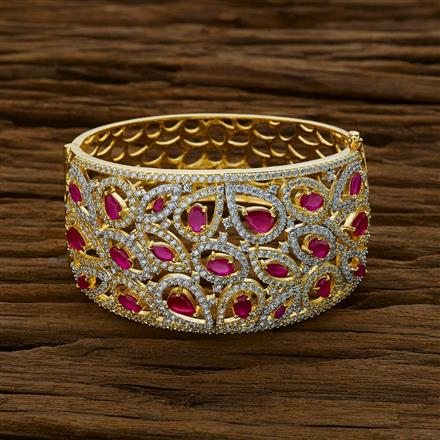 52839 CZ Broad Kada with 2 tone plating