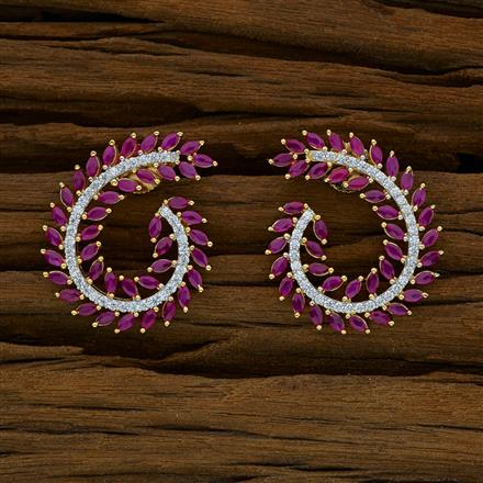 52848 CZ Chand Earring with 2 tone plating