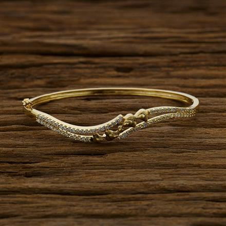 52876 CZ Delicate Kada with gold plating