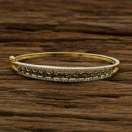 52884 CZ Classic Kada with gold plating