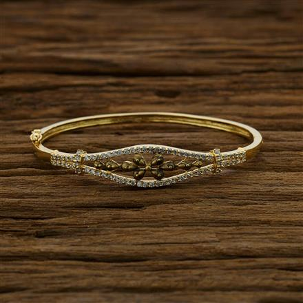 52890 CZ Delicate Kada with gold plating