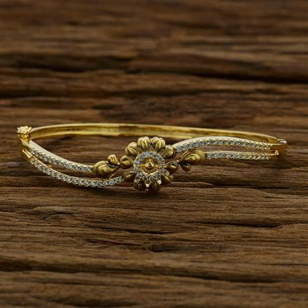 52892 CZ Classic Kada with gold plating