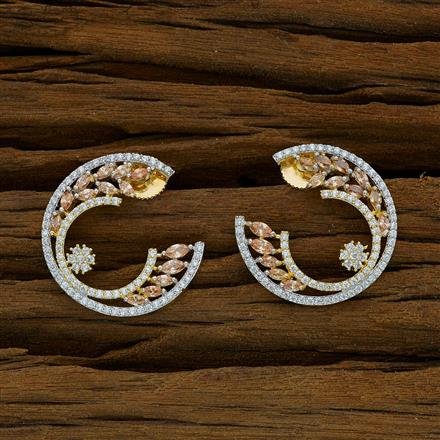 52905 CZ Chand Earring with 2 tone plating