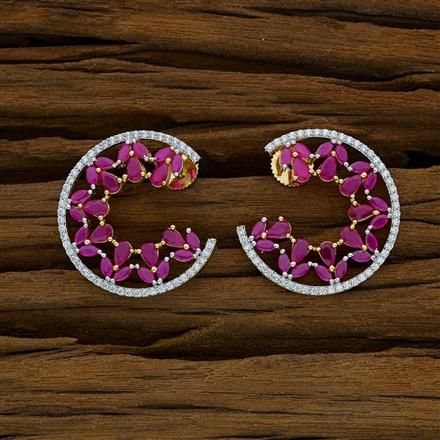 52906 CZ Classic Earring with 2 tone plating
