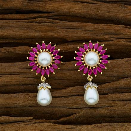 52907 CZ Delicate Earring with 2 tone plating