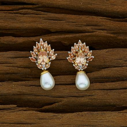 52908 CZ Delicate Earring with 2 tone plating