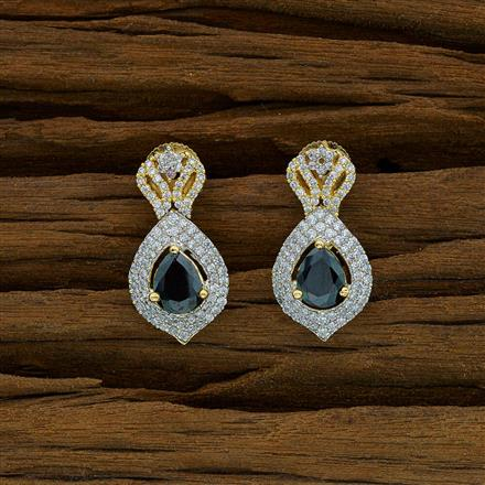 52911 CZ Delicate Earring with 2 tone plating