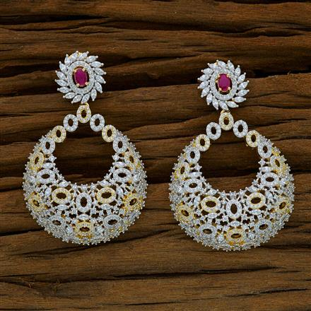 52912 CZ Classic Earring with 2 tone plating