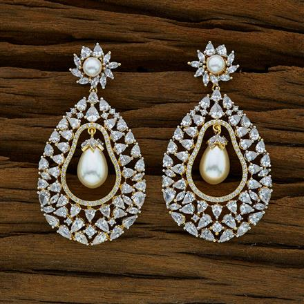 52914 CZ Classic Earring with 2 tone plating