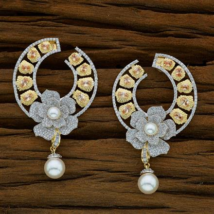 52915 CZ Classic Earring with 2 tone plating