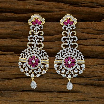 52917 CZ Classic Earring with 2 tone plating