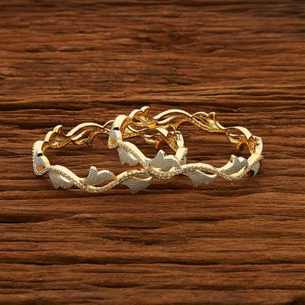 52961 CZ Classic Bangles with 2 tone plating