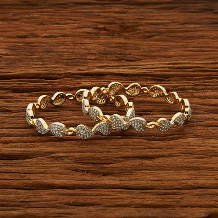 52962 CZ Classic Bangles with 2 tone plating