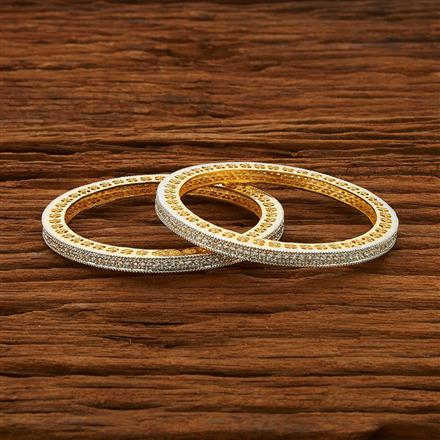 52963 CZ Classic Bangles with 2 tone plating