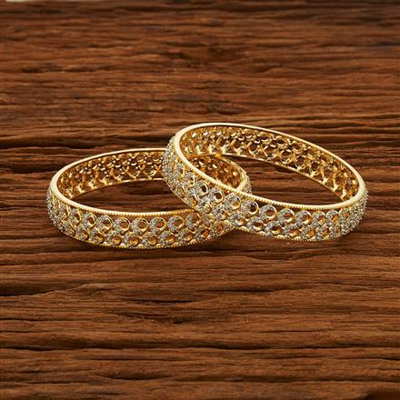 52964 CZ Classic Bangles with 2 tone plating