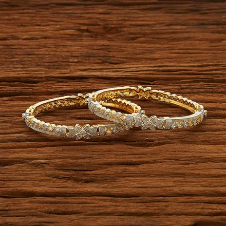52965 CZ Classic Bangles with 2 tone plating