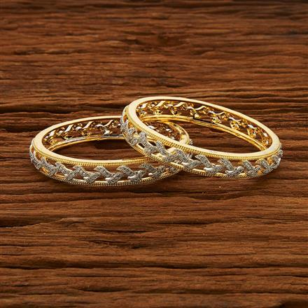 52969 CZ Classic Bangles with 2 tone plating