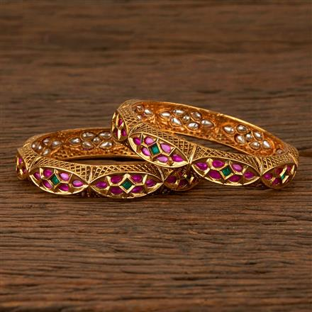 530025 Antique Classic Bangles With Gold Plating