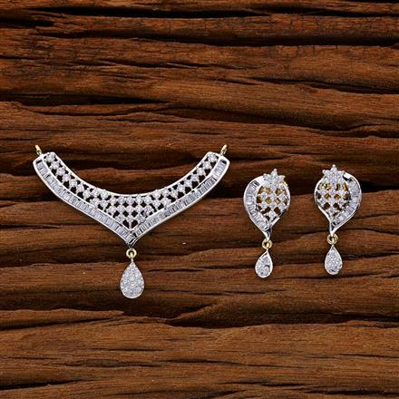 53007 CZ Classic Mangalsutra with 2 tone plating