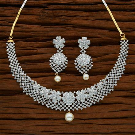 53020 CZ Classic Necklace with 2 tone plating