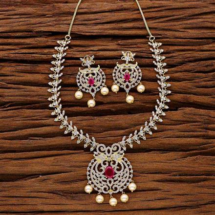 53022 CZ Classic Necklace with gold plating