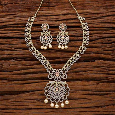 53023 CZ Classic Necklace with gold plating