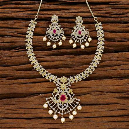 53024 CZ Classic Necklace with gold plating