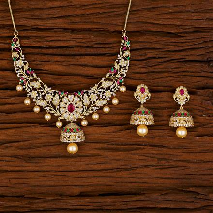 53033 CZ Classic Necklace with gold plating